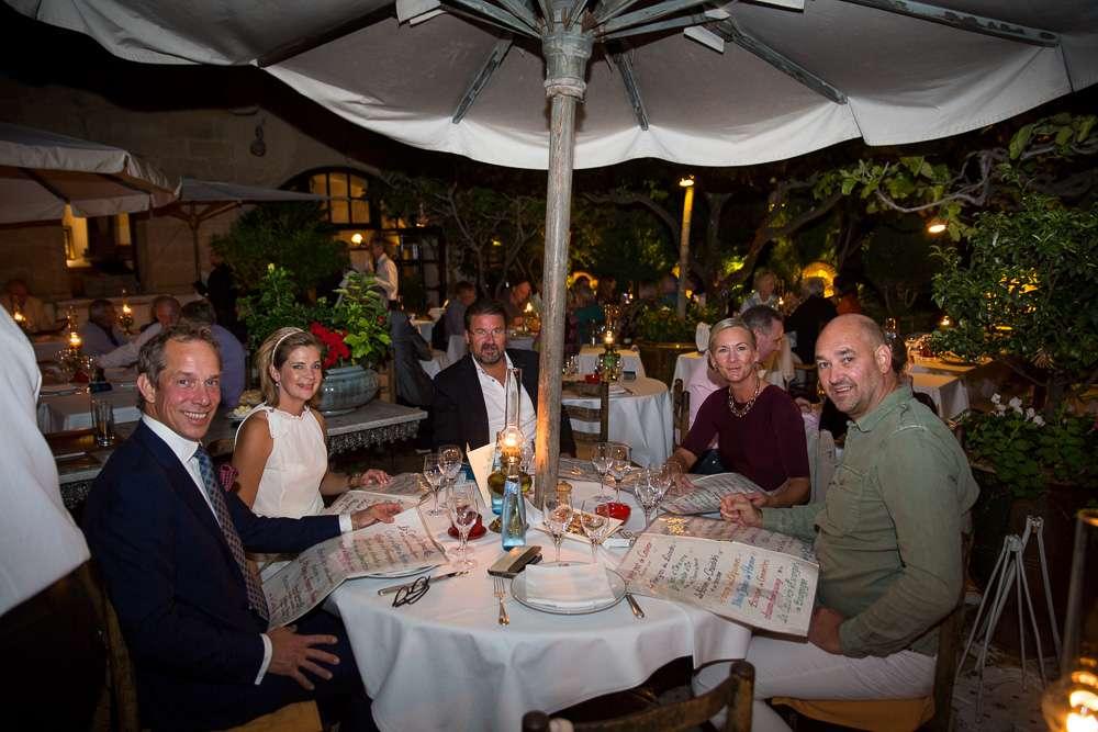 Bilden ovan är från vår middag kvällen efter, på restaurang La Colombe d'Or.
