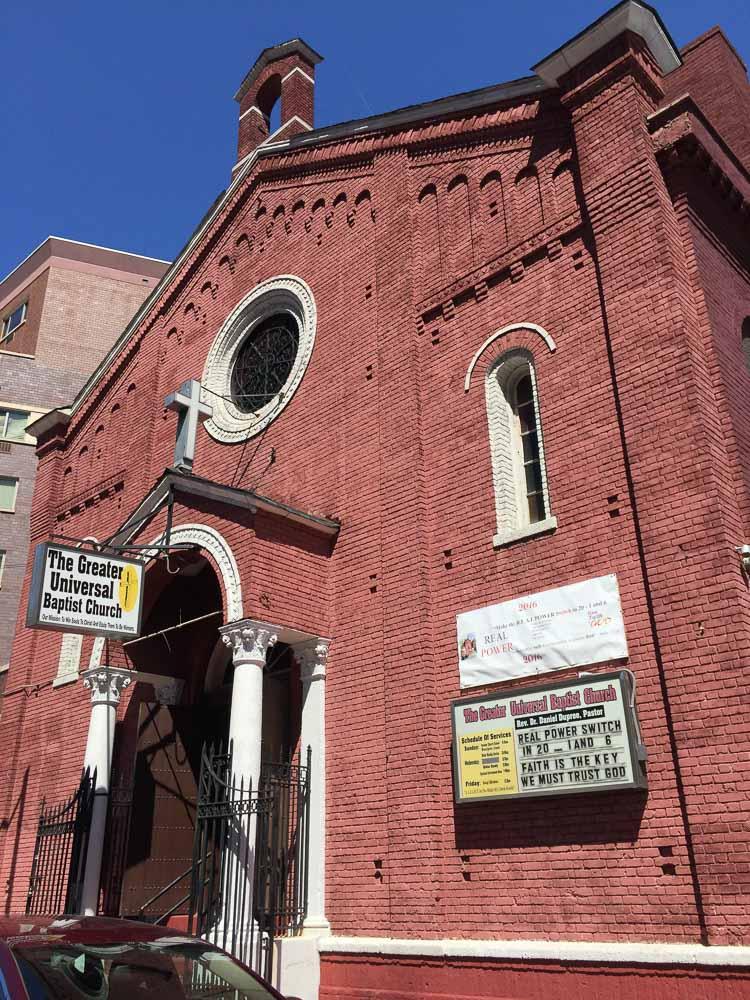 Kyrkan i Harlem som vi besökte under gospel touren