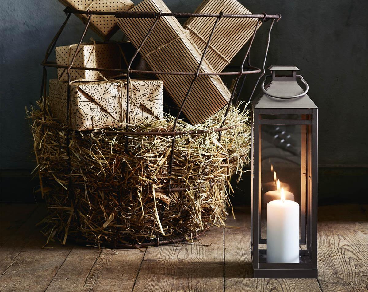 Grafisk jul - lyktan Lagrad IKEA