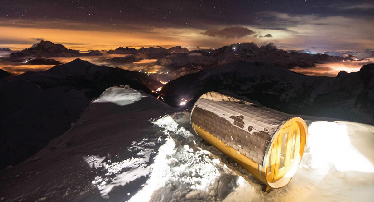 Utsiktsbild från Skidresor till Alperna och Island - Dolmiterna.