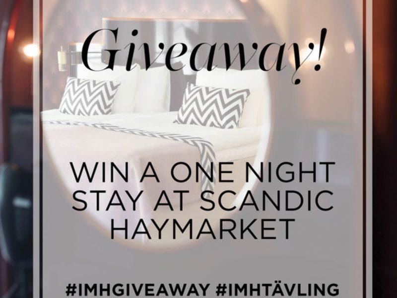 Instagramtävling, vinn övernattning på Haymarket Hotell