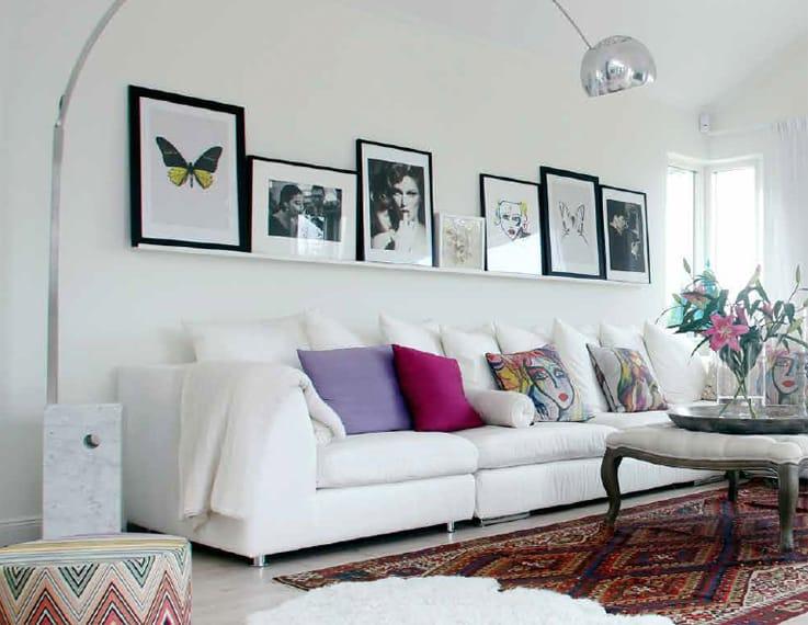 Vardagsrum hemma hos Carolina Gynning