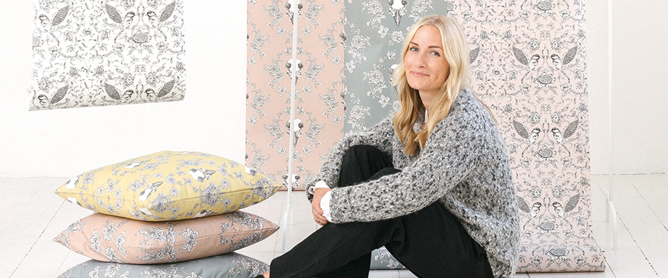Emma fallman; Mönster med attityd tapeter med Inspiration My Home